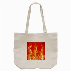 Fire Flames Abstract Background Tote Bag (cream) by Simbadda