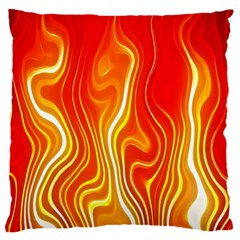 Fire Flames Abstract Background Standard Flano Cushion Case (two Sides) by Simbadda