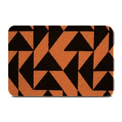 Brown Triangles Background Plate Mats by Simbadda