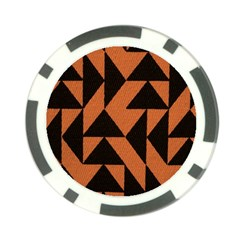 Brown Triangles Background Poker Chip Card Guard (10 Pack) by Simbadda