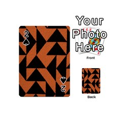 Brown Triangles Background Playing Cards 54 (mini)  by Simbadda