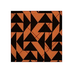 Brown Triangles Background Acrylic Tangram Puzzle (4  X 4 )