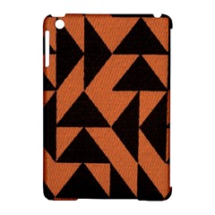 Brown Triangles Background Apple Ipad Mini Hardshell Case (compatible With Smart Cover) by Simbadda