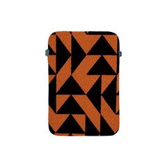 Brown Triangles Background Apple Ipad Mini Protective Soft Cases by Simbadda
