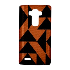 Brown Triangles Background Lg G4 Hardshell Case by Simbadda