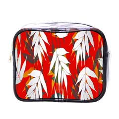 Leaves Pattern Background Pattern Mini Toiletries Bags by Simbadda