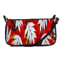 Leaves Pattern Background Pattern Shoulder Clutch Bags by Simbadda