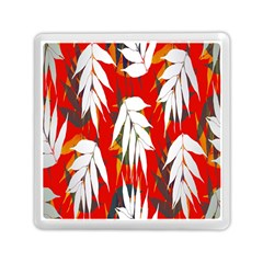 Leaves Pattern Background Pattern Memory Card Reader (square)  by Simbadda