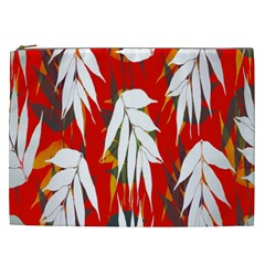 Leaves Pattern Background Pattern Cosmetic Bag (xxl)  by Simbadda