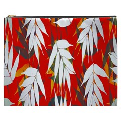 Leaves Pattern Background Pattern Cosmetic Bag (xxxl)  by Simbadda