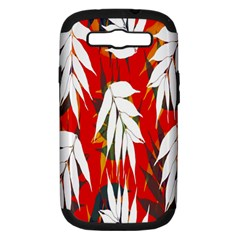 Leaves Pattern Background Pattern Samsung Galaxy S Iii Hardshell Case (pc+silicone) by Simbadda