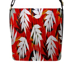 Leaves Pattern Background Pattern Flap Messenger Bag (l)  by Simbadda