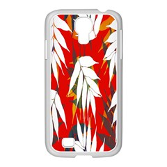 Leaves Pattern Background Pattern Samsung Galaxy S4 I9500/ I9505 Case (white) by Simbadda