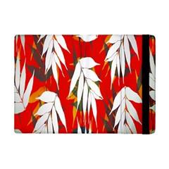 Leaves Pattern Background Pattern Ipad Mini 2 Flip Cases by Simbadda