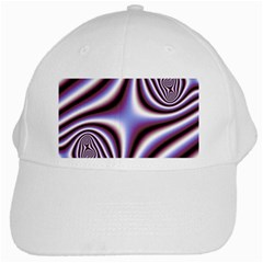 Fractal Background With Curves Created From Checkboard White Cap by Simbadda