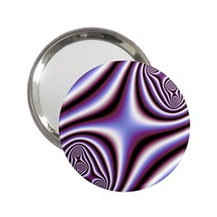 Fractal Background With Curves Created From Checkboard 2 25  Handbag Mirrors