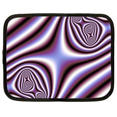 Fractal Background With Curves Created From Checkboard Netbook Case (xl)  by Simbadda
