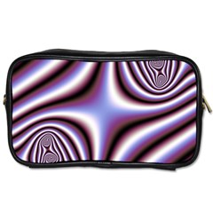 Fractal Background With Curves Created From Checkboard Toiletries Bags by Simbadda