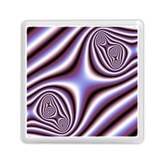 Fractal Background With Curves Created From Checkboard Memory Card Reader (square)  by Simbadda
