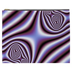Fractal Background With Curves Created From Checkboard Cosmetic Bag (xxxl)  by Simbadda
