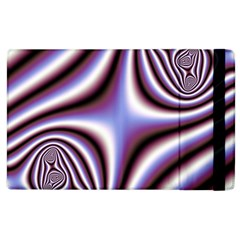Fractal Background With Curves Created From Checkboard Apple Ipad 2 Flip Case