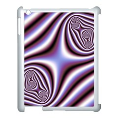 Fractal Background With Curves Created From Checkboard Apple Ipad 3/4 Case (white) by Simbadda