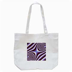 Fractal Background With Curves Created From Checkboard Tote Bag (white) by Simbadda