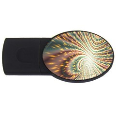 Vortex Glow Abstract Background Usb Flash Drive Oval (4 Gb) by Simbadda