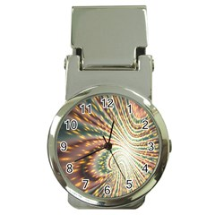 Vortex Glow Abstract Background Money Clip Watches by Simbadda