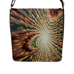 Vortex Glow Abstract Background Flap Messenger Bag (l)  by Simbadda