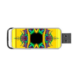 Fractal Rings In 3d Glass Frame Portable Usb Flash (two Sides) by Simbadda