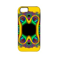 Fractal Rings In 3d Glass Frame Apple Iphone 5 Classic Hardshell Case (pc+silicone) by Simbadda