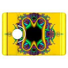 Fractal Rings In 3d Glass Frame Kindle Fire Hdx Flip 360 Case by Simbadda
