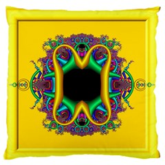 Fractal Rings In 3d Glass Frame Standard Flano Cushion Case (Two Sides) by Simbadda