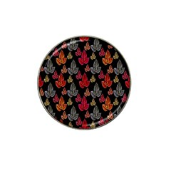 Leaves Pattern Background Hat Clip Ball Marker (4 Pack) by Simbadda
