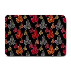 Leaves Pattern Background Plate Mats by Simbadda