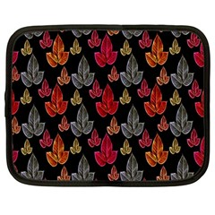 Leaves Pattern Background Netbook Case (large) by Simbadda