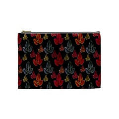 Leaves Pattern Background Cosmetic Bag (medium)  by Simbadda