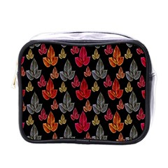Leaves Pattern Background Mini Toiletries Bags by Simbadda