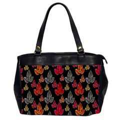 Leaves Pattern Background Office Handbags (2 Sides)  by Simbadda