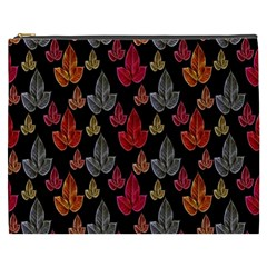Leaves Pattern Background Cosmetic Bag (xxxl)  by Simbadda