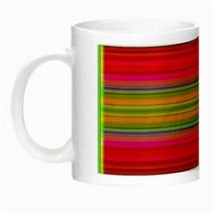 Fiestal Stripe Bright Colorful Neon Stripes Background Night Luminous Mugs by Simbadda