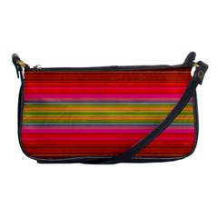Fiestal Stripe Bright Colorful Neon Stripes Background Shoulder Clutch Bags by Simbadda