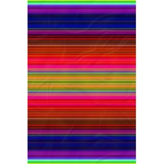 Fiestal Stripe Bright Colorful Neon Stripes Background 5 5  X 8 5  Notebooks by Simbadda