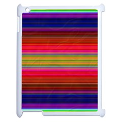 Fiestal Stripe Bright Colorful Neon Stripes Background Apple Ipad 2 Case (white) by Simbadda