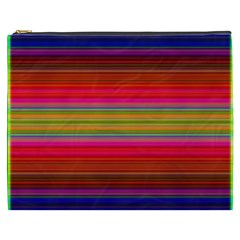 Fiestal Stripe Bright Colorful Neon Stripes Background Cosmetic Bag (xxxl)  by Simbadda