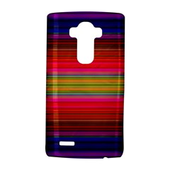 Fiestal Stripe Bright Colorful Neon Stripes Background Lg G4 Hardshell Case by Simbadda