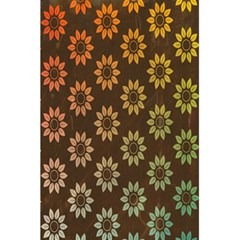 Grunge Brown Flower Background Pattern 5 5  X 8 5  Notebooks by Simbadda