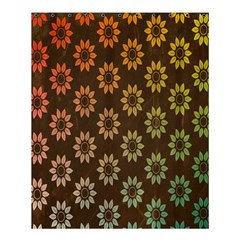 Grunge Brown Flower Background Pattern Shower Curtain 60  X 72  (medium)  by Simbadda