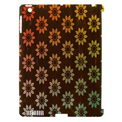 Grunge Brown Flower Background Pattern Apple Ipad 3/4 Hardshell Case (compatible With Smart Cover) by Simbadda